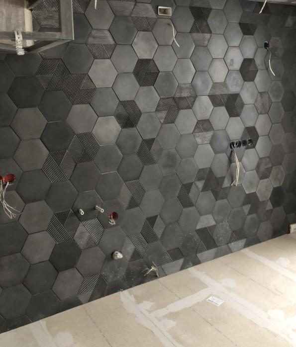 3D плитка из бетона