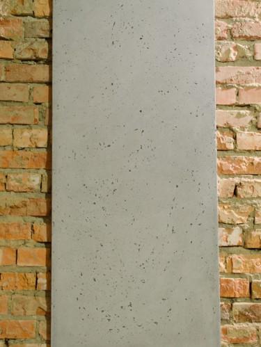 Стеновая интерьерная панель из бетона светло-серая