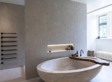Ванна шлифованный бетон