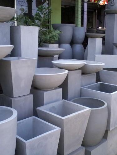 Бетонные вазоны (цветочные вазоны из бетона)