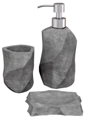 Комплект аксессуаров для ванной комнаты из бетона