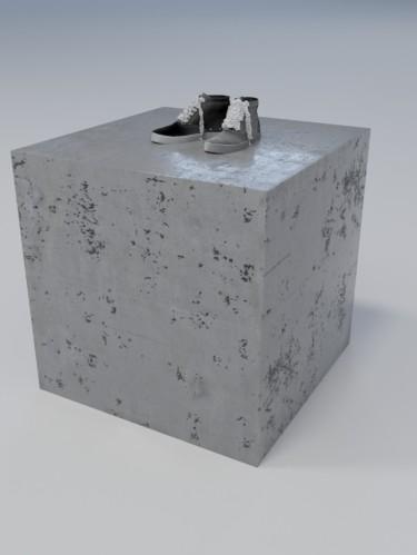 Подиум из бетона «Куб»