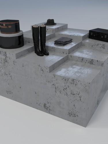 Подиум «Ступени» из бетона