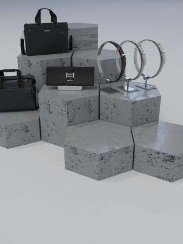 Подиум из бетона «Соты»